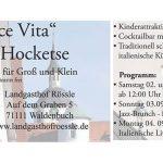 Dolce Vita – Rössle Hocketse vom 2. bis 4. Sept. 2017